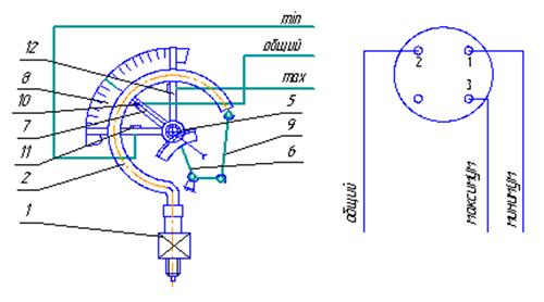Схема подключения электроконтактный манометр в электрической схеме