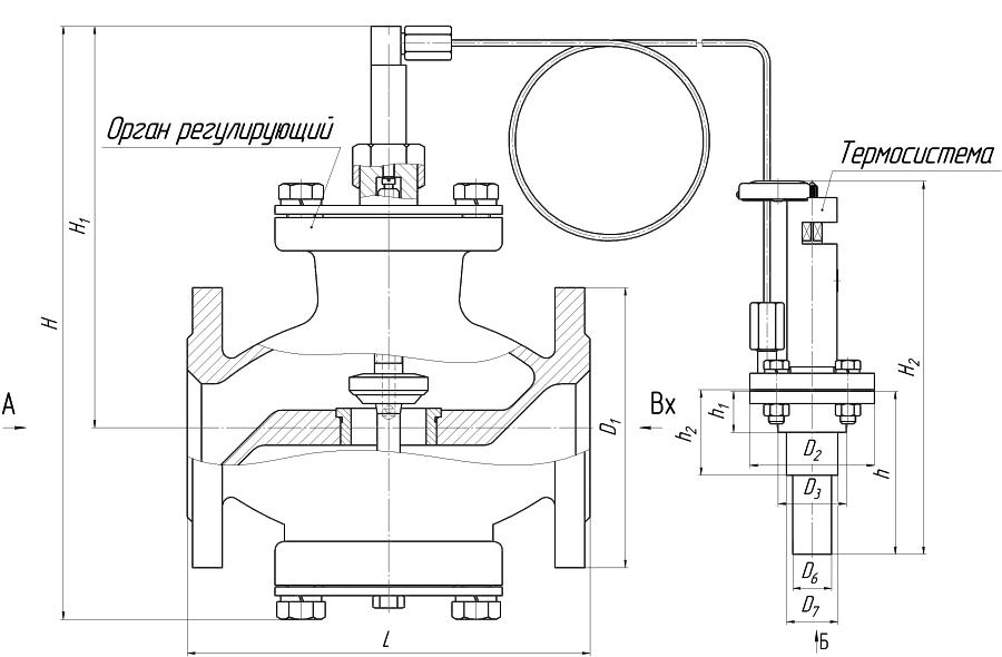 Габаритные размеры РТ-ДО (Рисунок 1)