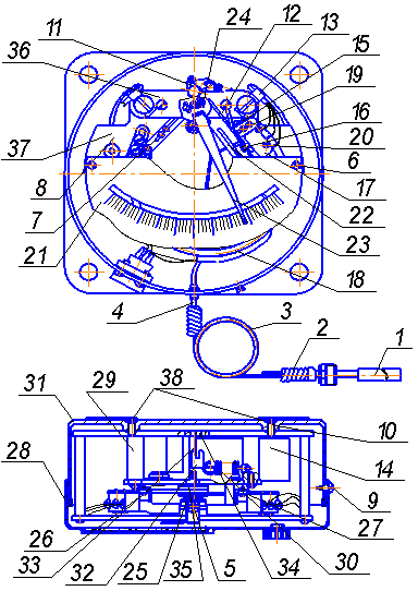 Конструкция термометра ТКП-160Сг-М3